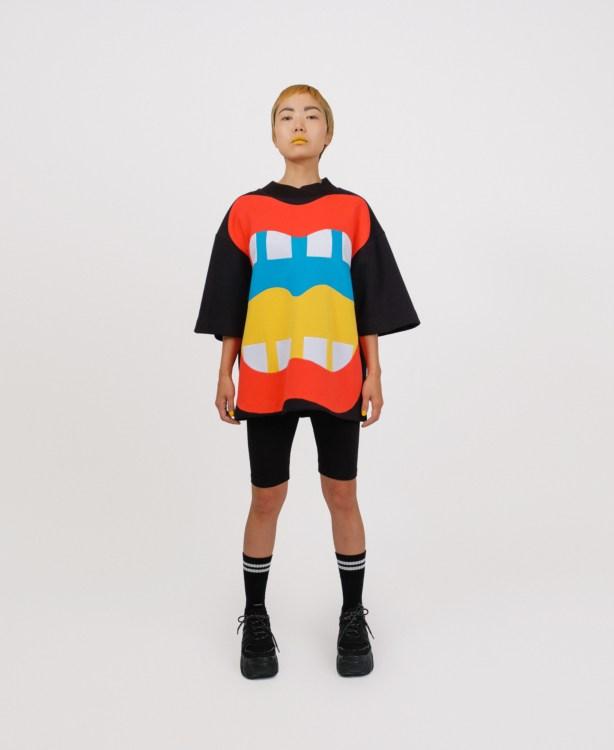 genderless sweatshirt in patchwork jannike sommar