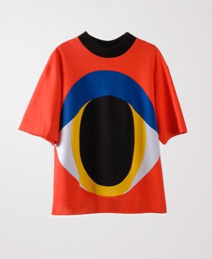 red patchwork genderless sweatshirt