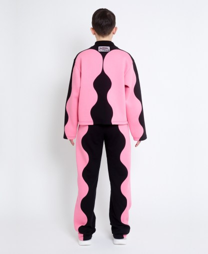 Pink sweatshirt in patchwork