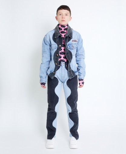 Upcycled Denim Pants in Patchwork
